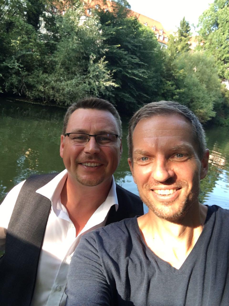 Weinfloß Team - Andy Urban und Oliver Ueltzhöffer