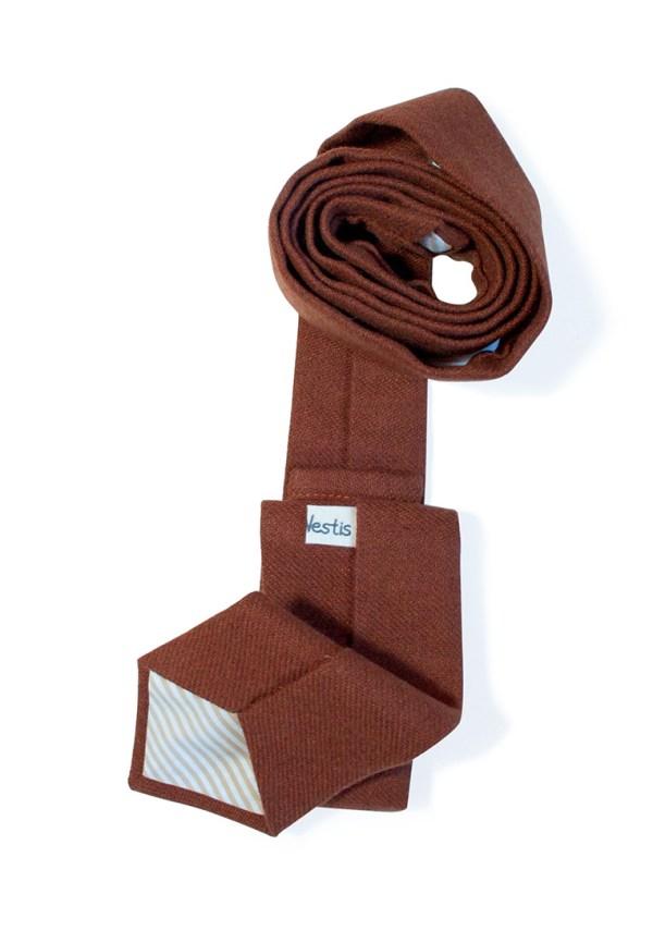 галстук терракотовый твид