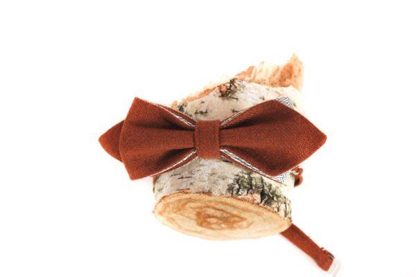Галстук-бабочка рыжий, из твида. ViaVestis. Дизайнерские галстуки-бабочки. Bow tie