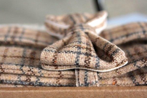 Bow tie tweed