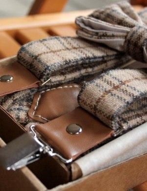 Подтяжки и галстук-бабчка
