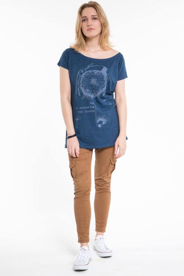 Футболка женская, блузка, синяя, с рисунком. ViaVestis