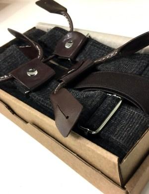 Подтяжки для брюк с кожаными петлями
