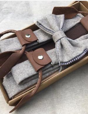 Дизайнерские подтяжки и галстук-бабочка
