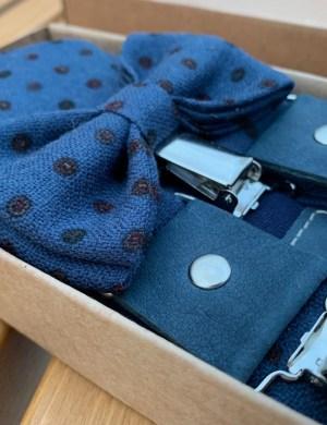 Подтяжки, галстук-бабочка, карманный платок. Комплект.