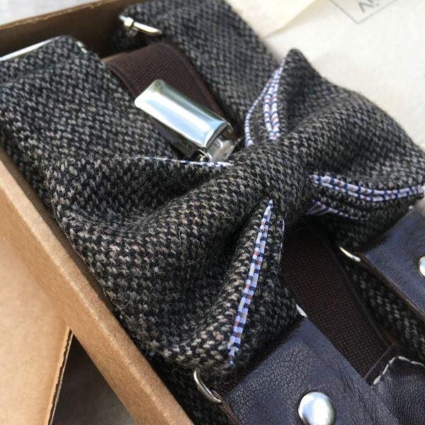 Подтяжки мужские с галстуком-бабочкой. Подарочный набор ViaVestis