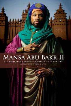 "AFRICAN KING SERIES | Mansa Abu Bakr II ( also known as Mansa Abu Bakari II circa 14th century) was the ninth Mansa (Title of Ruler in Mali) of the Mali Empire, the richest and largest empire on earth at that time, covering nearly all of West Africa. He succeeded his nephew Mansa Mohammed ibn Gao and preceded Mansa Musa. Abu Bakr II appears to have abdicated his throne (1311) in order to explore ""the limits of the ocean"" and was said to have set out on this feat 181 years prior to Christopher Columbus however, his expedition never returned. He is now referred to as ""The Voyager King"" 