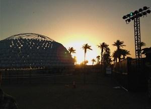Sunrise at Coachella Silent Disco