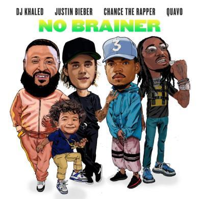Justin-Bieber-DJ-Khaled-Chance-the-rapper-quavo-no-brainer-cover