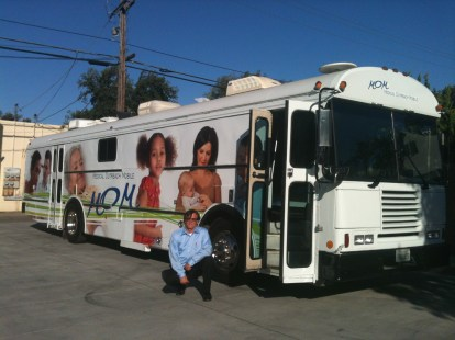 Volunteer Al Ramsey and the AVC Health Bus/Medical Outreach Mobile