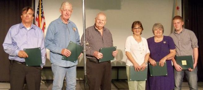 AVC Pioneers Al Ramsey, Jon Engell, Louie Ellsworth, Pam Dumas, Lori Douglass, Joshua Douglass