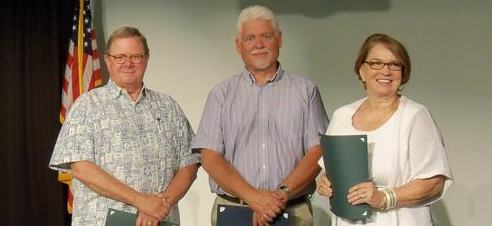 AVC Board Alumni Sandy Sutton, John Grover, and Lee Ockey