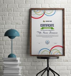 Poseidon Elegant Portrait Certificate Template