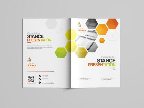 Saturn Professional Bi-Fold Brochure Template