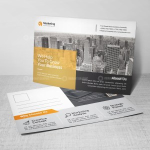 PSD Corporate Postcard Templates