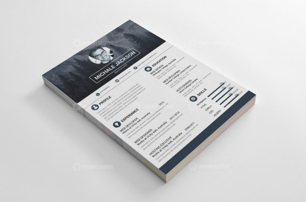 Photographer Resume CV Design
