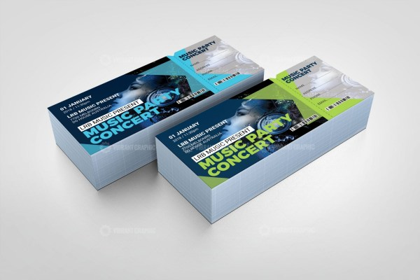 PSD Concert Event Ticket Design