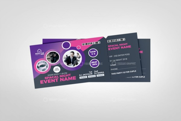 Vibrant Event Ticket Template