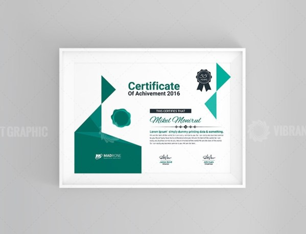 Art Certificate Design
