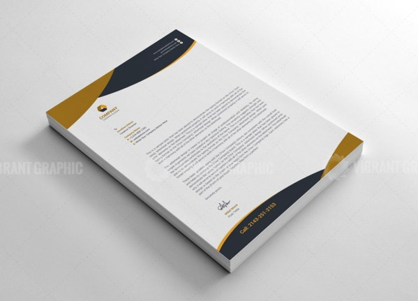 Modern Letterhead Design Templates