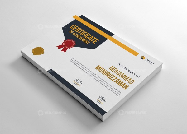 Clean Certificate of Completion