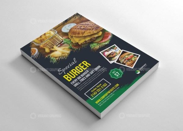 Burger Promotion Flyer Design