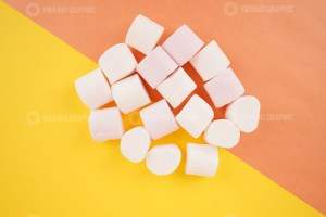 Sweet Marshmallows on colorful background stock photo
