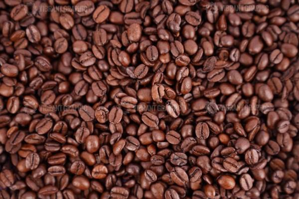 Espresso coffee beans stock photo