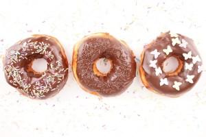 Homemade donut stock photos