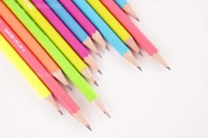 Set of pencils stock photo