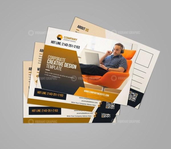 Print Ready Business Postcard Template