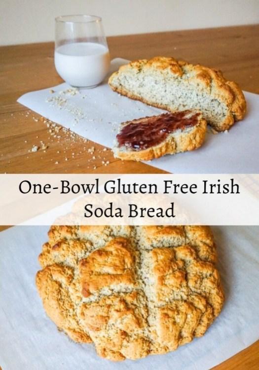 Gluten Free Irish Soda Bread with Milk and Jam