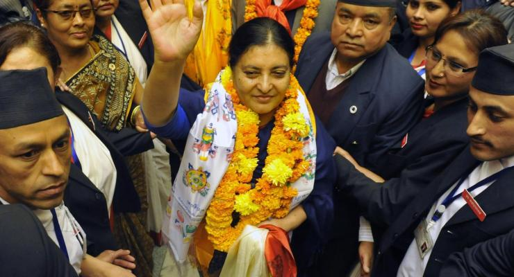 Bidya Devi Bhandari, the first female President of Nepal