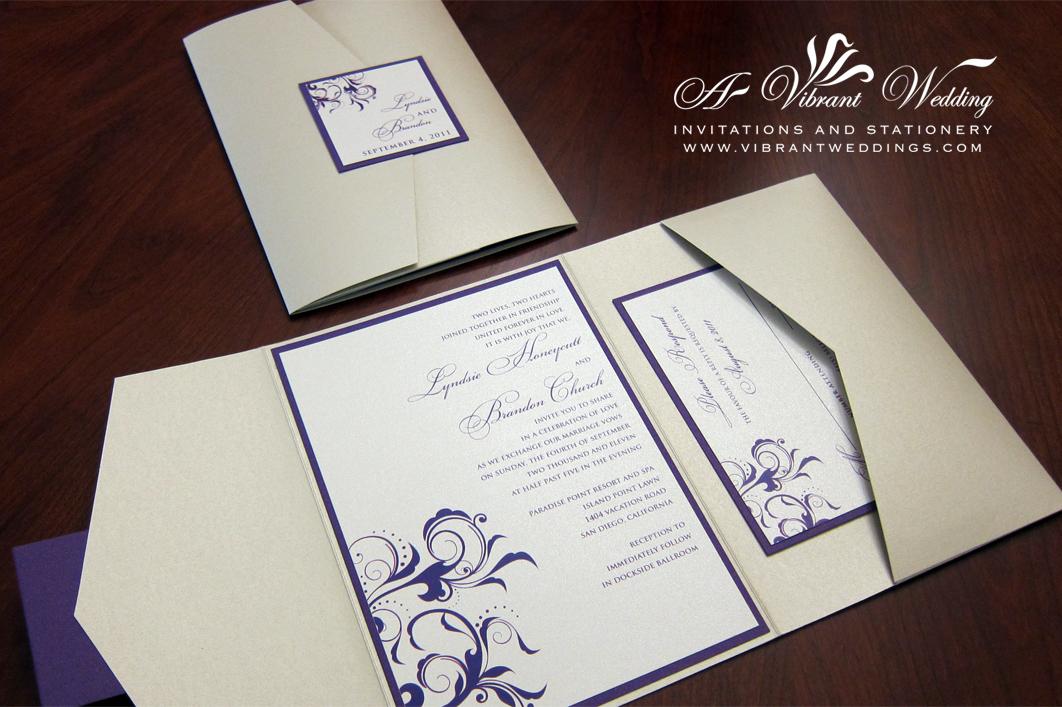 Pocket Fold Invitation A Vibrant Wedding