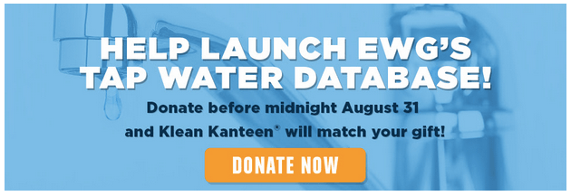 EWG tap water database