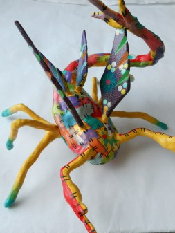 """""""Scorpion 60"""" Paper, Wire, Acrylic and Spray paint 2012 (Sold)}"""