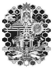 """Honeycomb"" Giclee print on Velvet rag paper. - Edition of 20. - Image size: 19"" x 27"" - 2014"