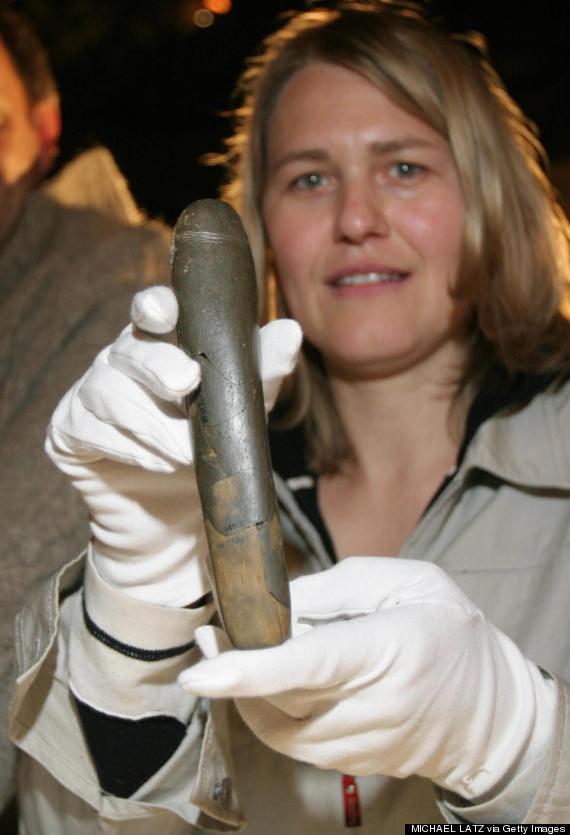 Archaeologist Petra Kieselbach of German
