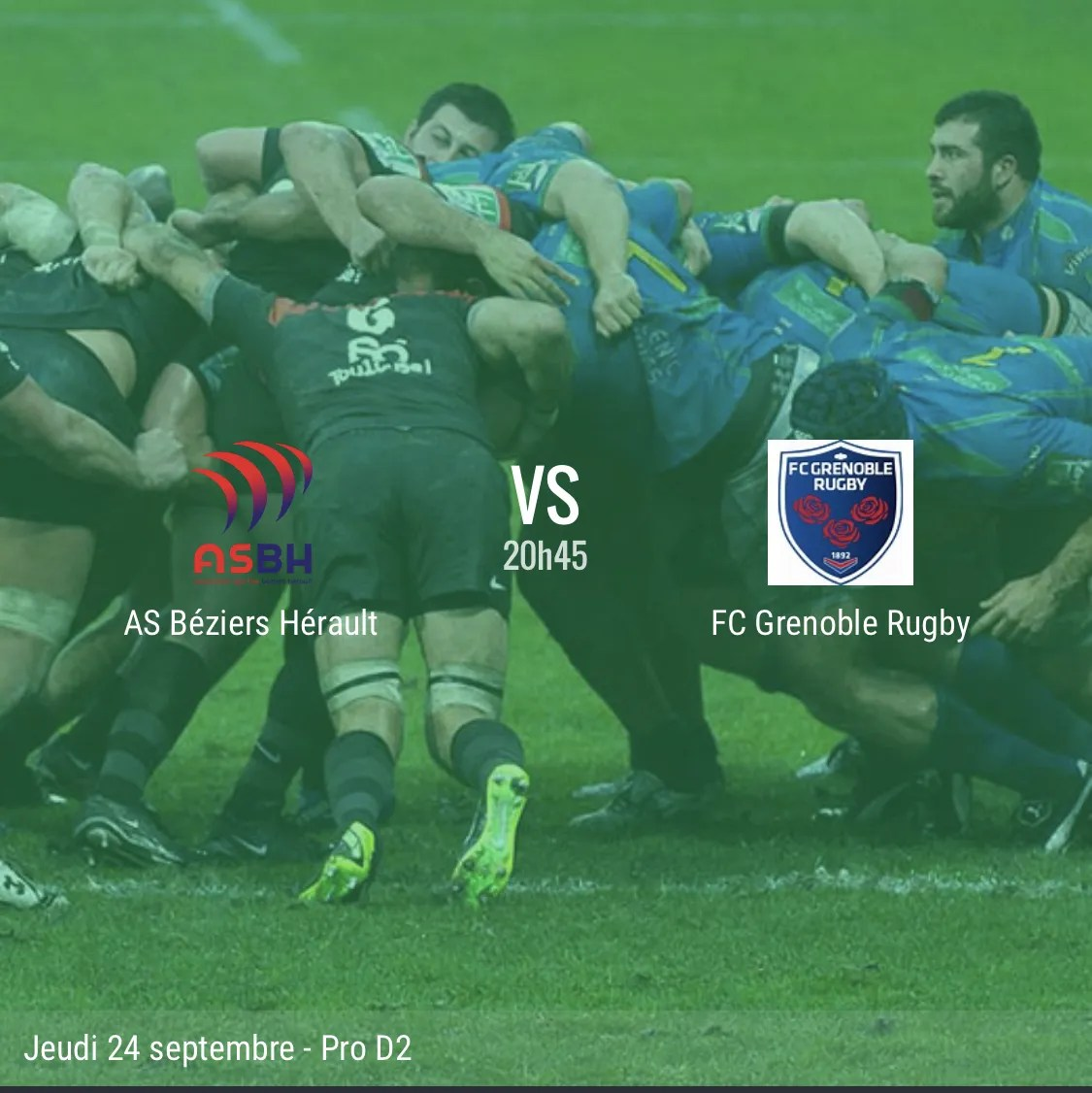 Rugby Pro D2 : Béziers / Grenoble – Le direct