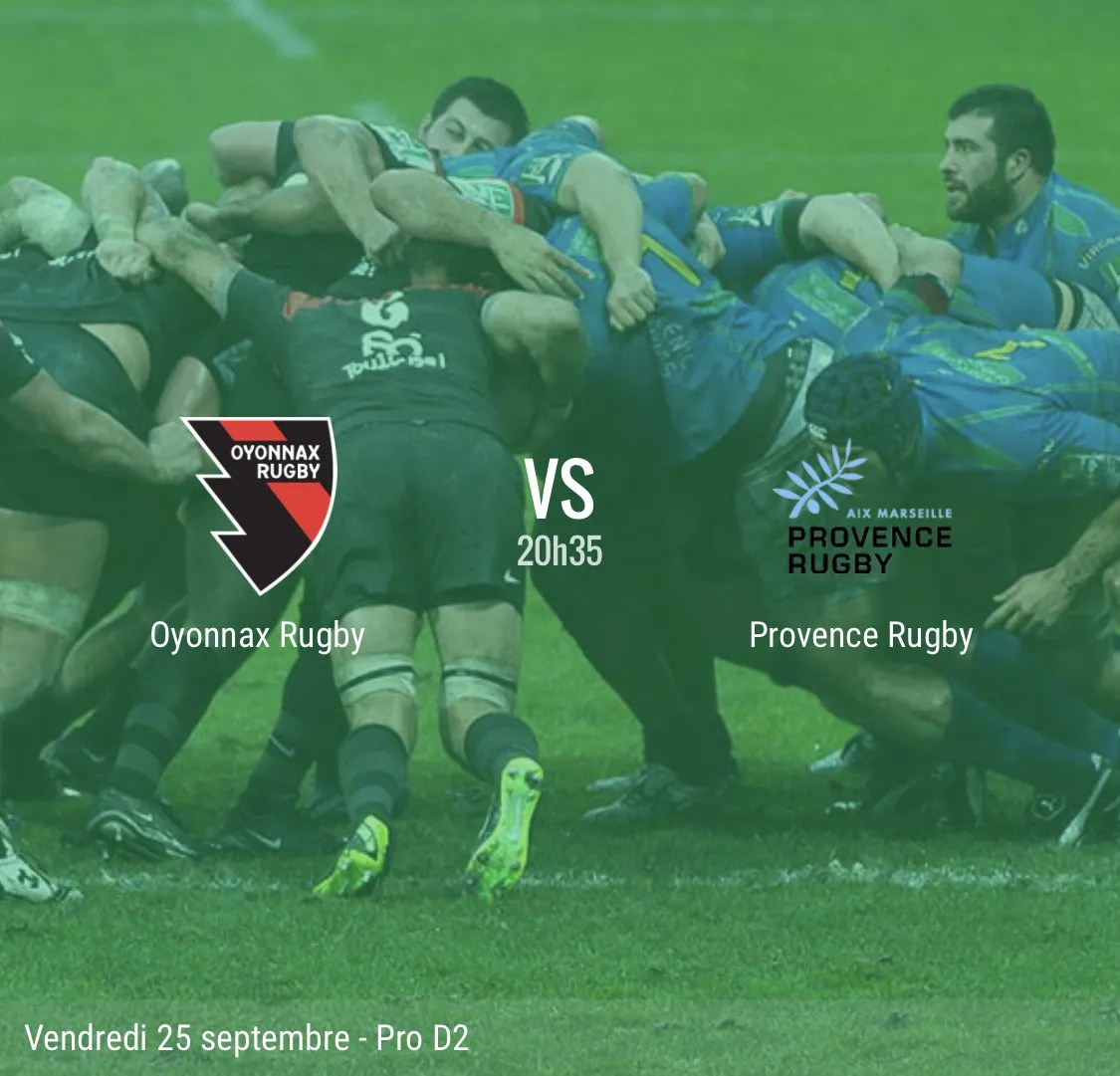 Rugby Pro D2 : Oyonnax / Provence Rugby #J4