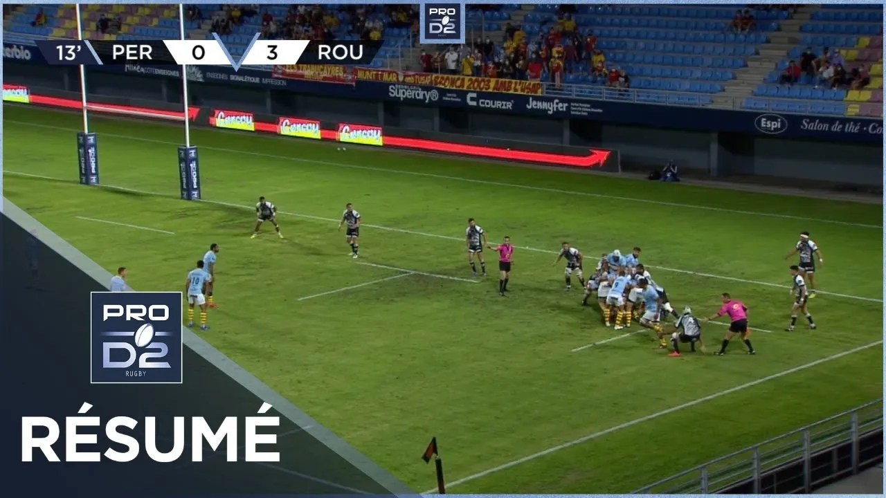 Rugby Pro D2  : PRO D2 – Résumé USA Perpignan-Rouen Normandie Rugby: 20-14 – J3 – Saison 2020/2021