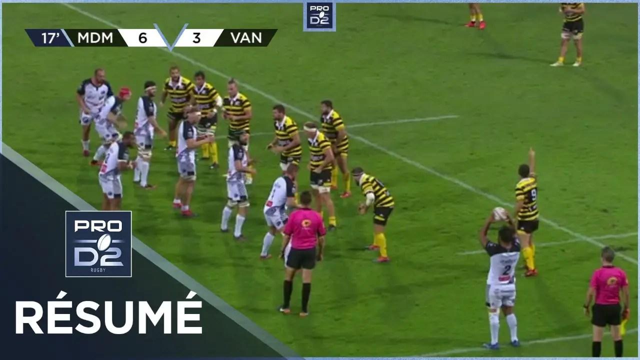 Rugby Pro D2 🎥  : PRO D2 – Résumé Stade Montois-RC Vannes: 15-19 – J3 – Saison 2020/2021