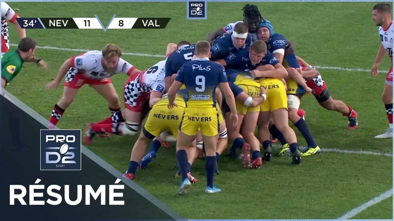 Rugby Pro D2 🎥  : Résumé USON Nevers-Valence Romans Drôme Rugby: 33-11 – J2 – Saison 2020/2021