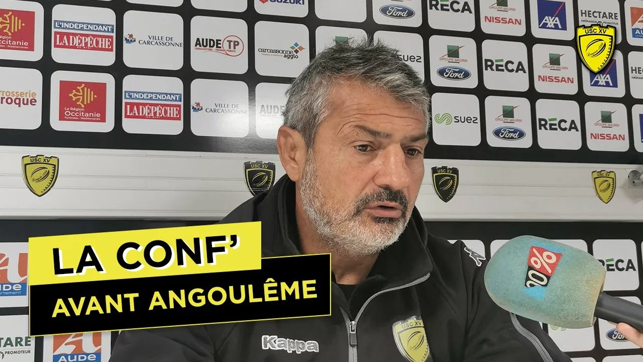 Rugby Pro D2 ( Carcassonne) : Les propos de Christian Labit, avant le déplacement à Angoulême.