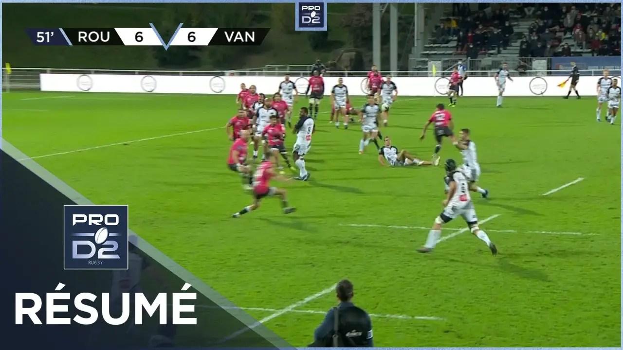 Rugby Pro D2 ( 🎥 LNR )  : PRO D2 – Résumé Rouen Normandie Rugby-RC Vannes: 19-23 – J6 – Saison 2020/2021