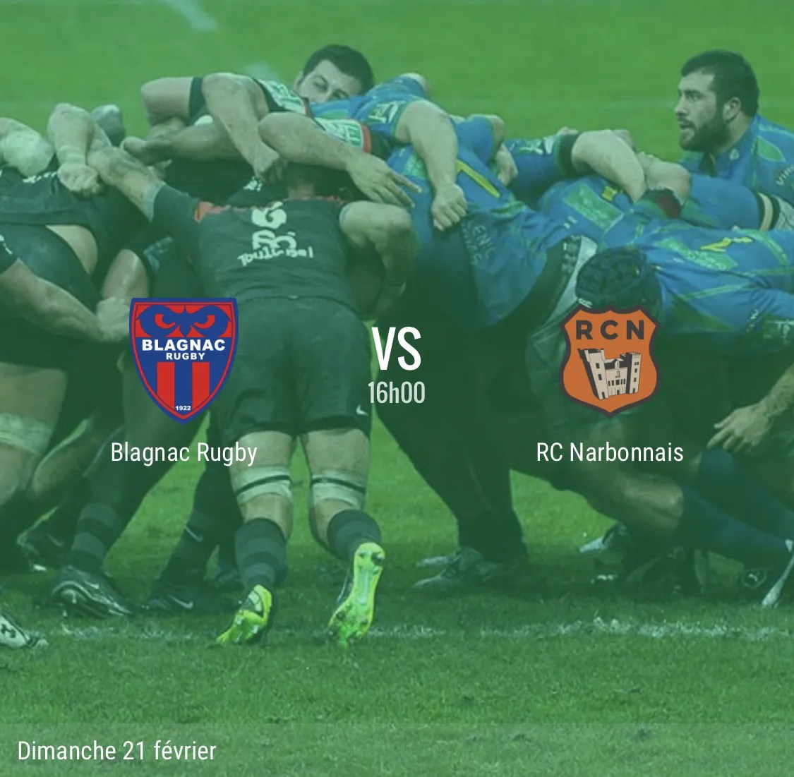 Rugby Nationale, Blagnac  – Narbonne  : les compositions