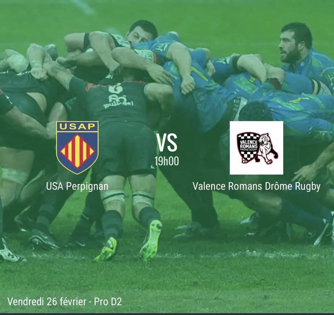 Rugby Pro D2 : Perpignan – Valence Romans en direct