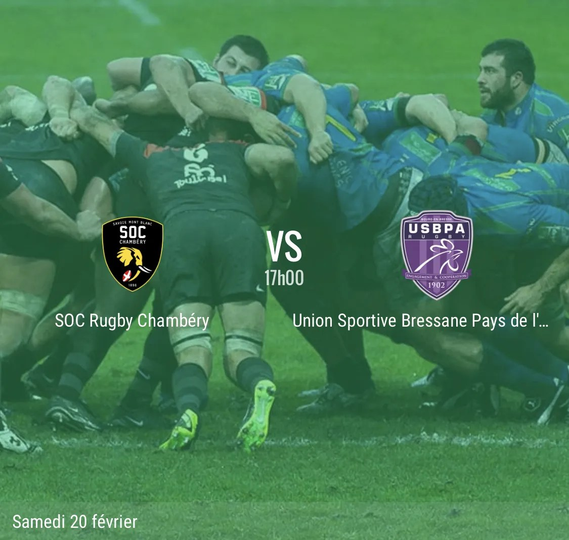 Rugby Nationale : Chambéry – Bourg en Bresse en direct