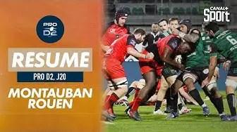 Rugby Pro D2 ( 🎥 Canal + ) : Le résumé de Montauban / Rouen