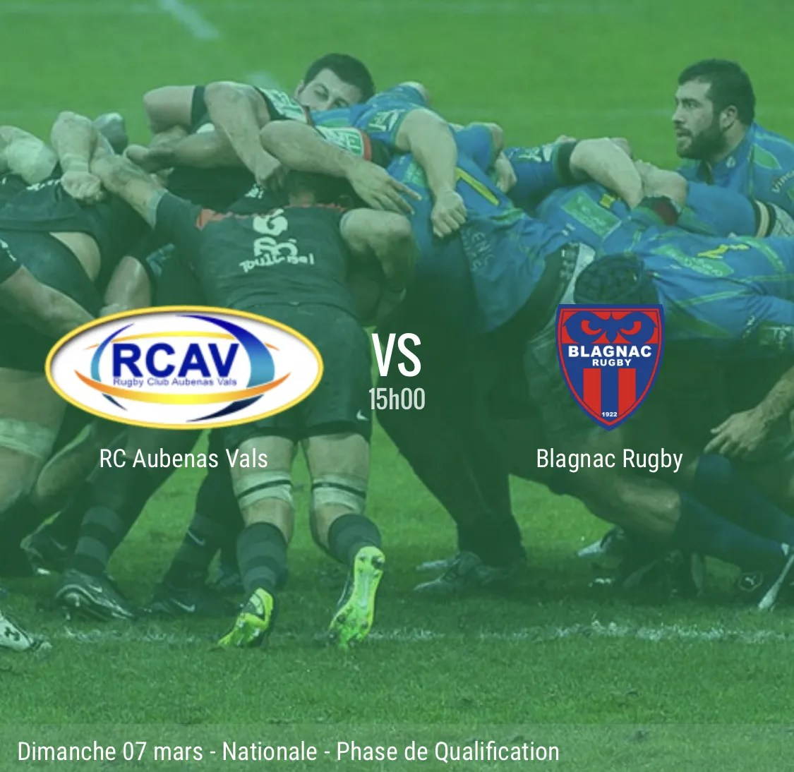 Rugby Nationale : Aubenas – Blagnac en direct
